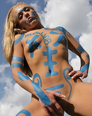 Free Girls Body Paint Porn Pictures
